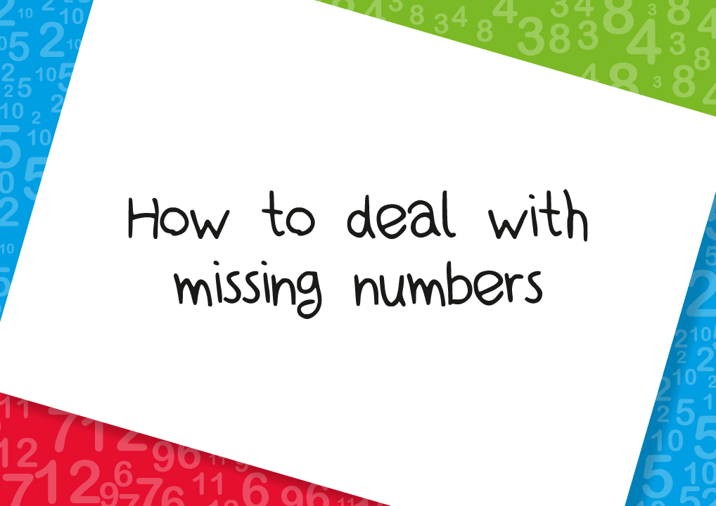 how to deal with missing numbers