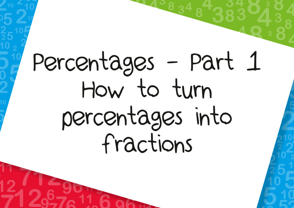 how to turn percentages into fractions