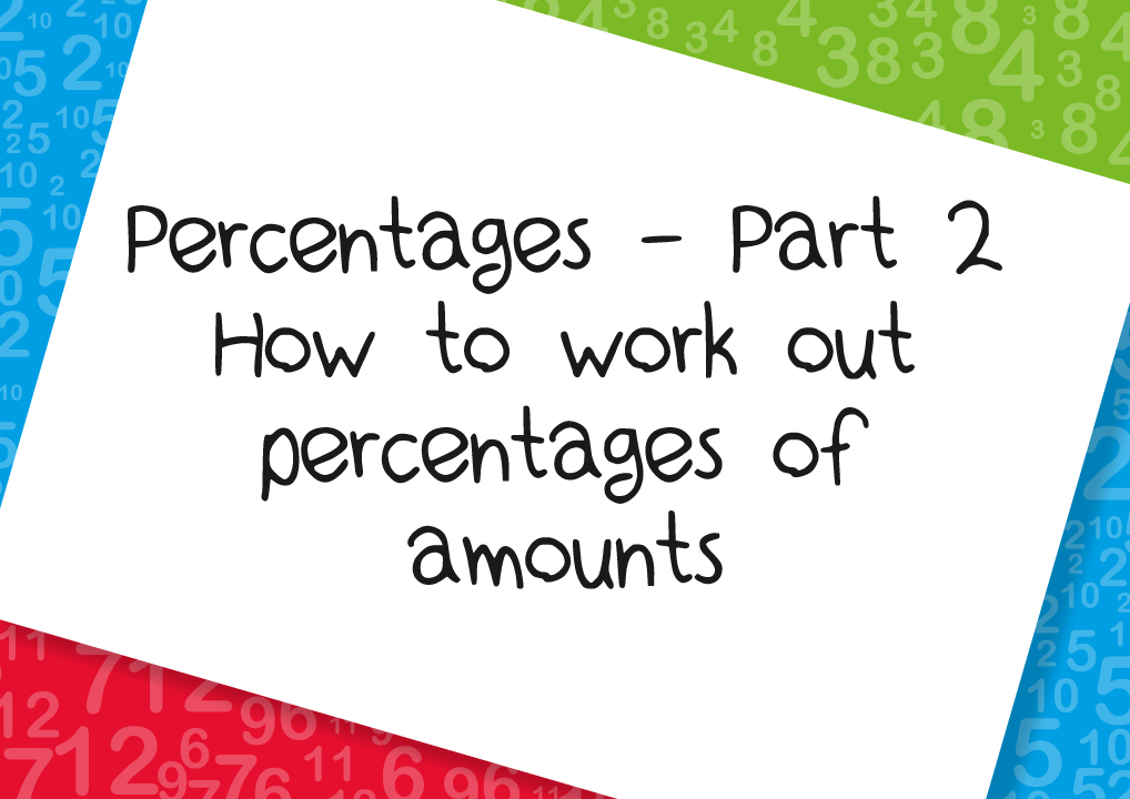how to work out percentages of amounts